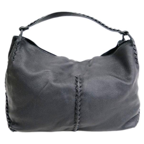 Buy Bottega Veneta Black Leather Cervo Hobo 7955 at best price  c0926f3ea0e4a