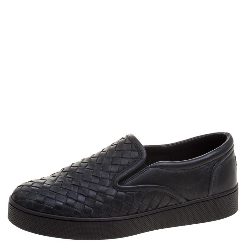 6f06f944fa32 ... Bottega Veneta Black Intrecciato Leather Slip On Sneakers Size 37.  nextprev. prevnext