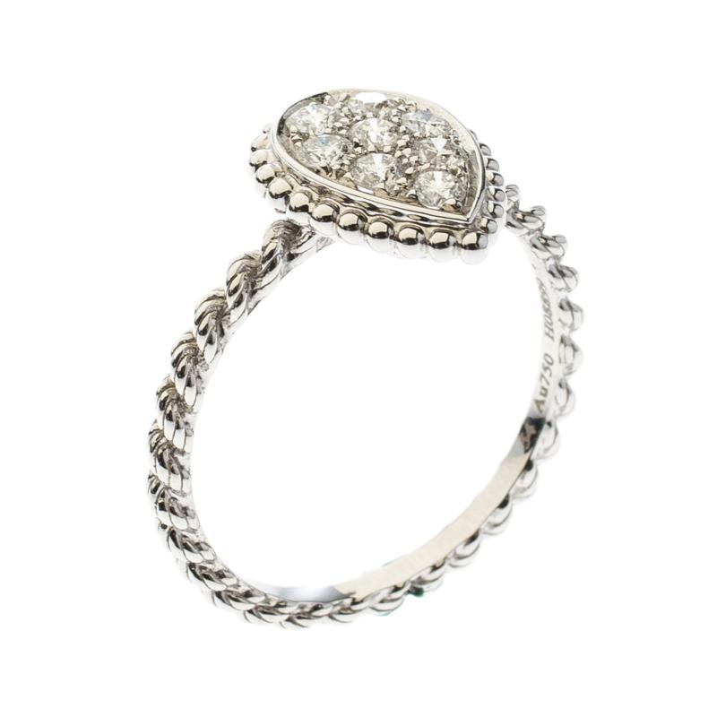 Купить со скидкой Boucheron Serpent Boheme Diamonds and 18K White Gold S Motif Ring