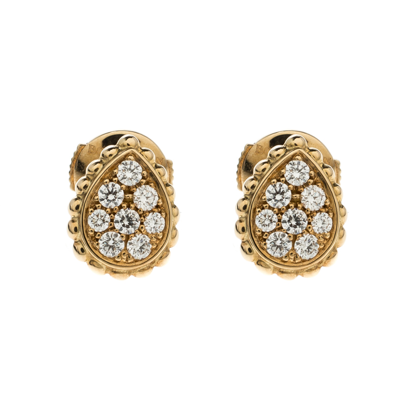 Boucheron Diamond Gold Serpent Boheme Earrings