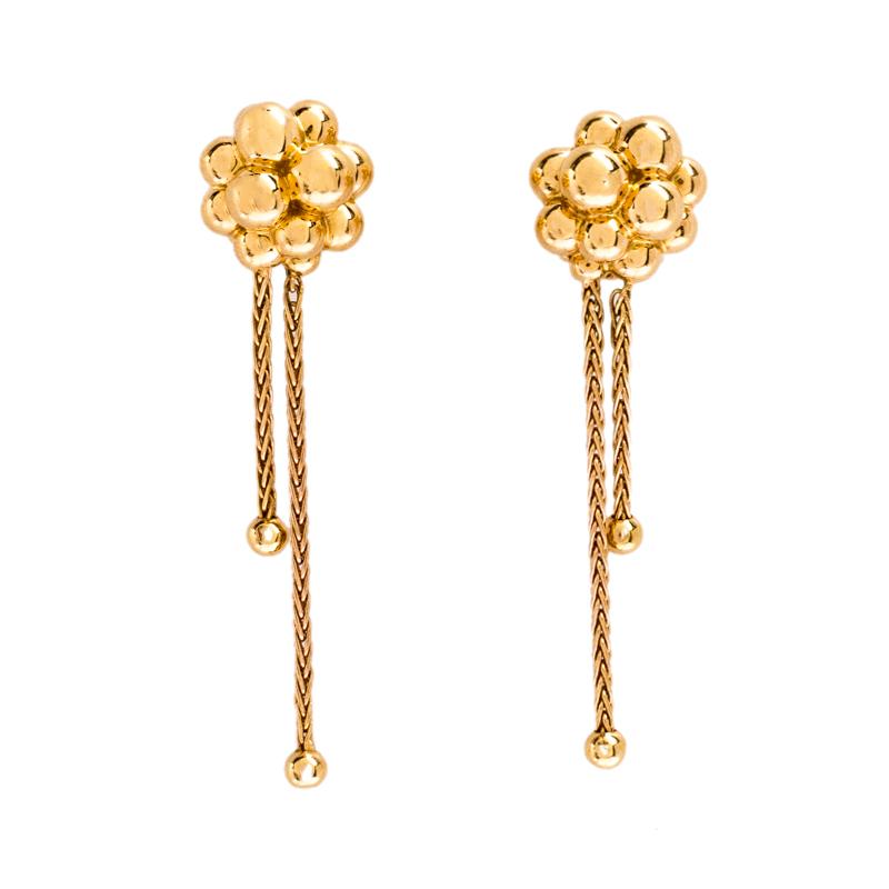 Boucheron Grains de Mure 18K Rose Gold Tassel Stud Earrings