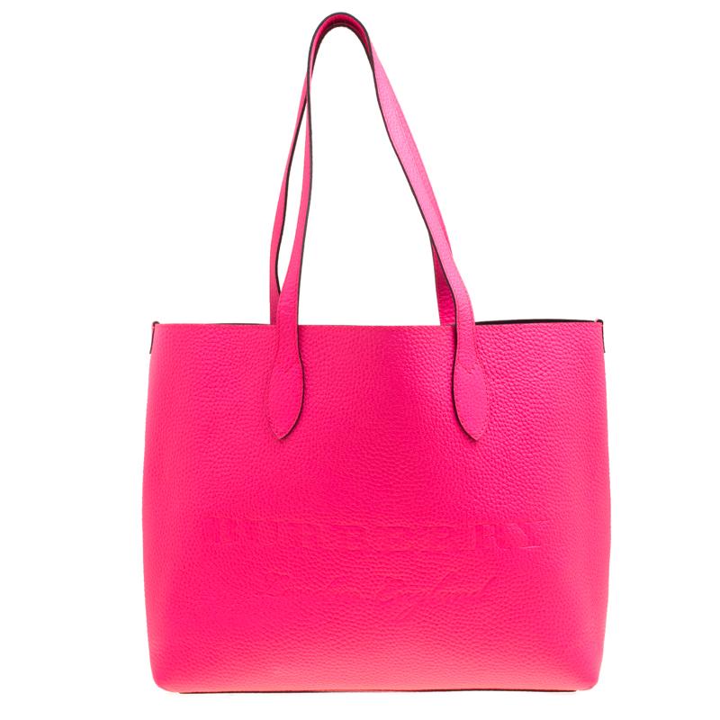 15ccbf188227 ... Burberry Neon Pink Leather Remington Shopper Tote. nextprev. prevnext