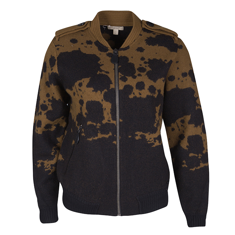 d4ad6b388e7 Buy Burberry Brit Brown and Black Splatter Pattern Zip Front Wool ...