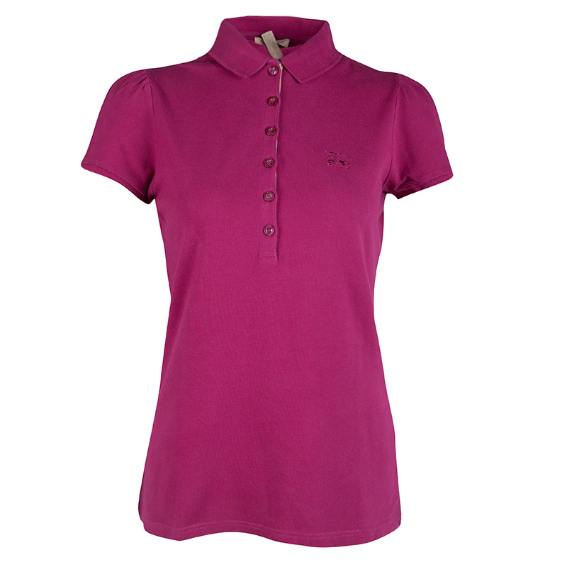 cffd74a59 Buy Burberry Brit Pink Cotton Short Sleeve Polo T-Shirt M 132129 at ...