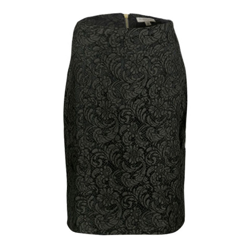 823bed3c30 ... Burberry London Olive Green Floral Lace Pencil Skirt S. nextprev.  prevnext