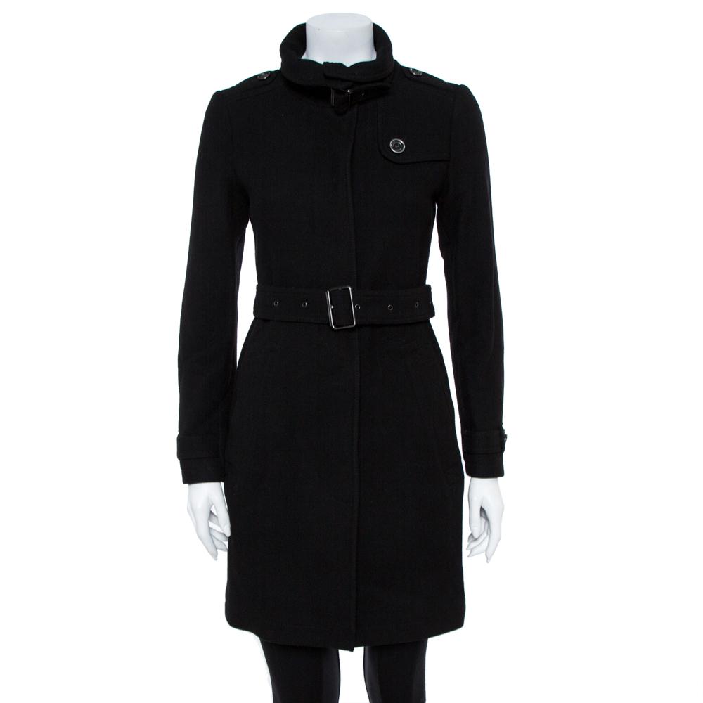 Burberry Brit Black Wool Coat S