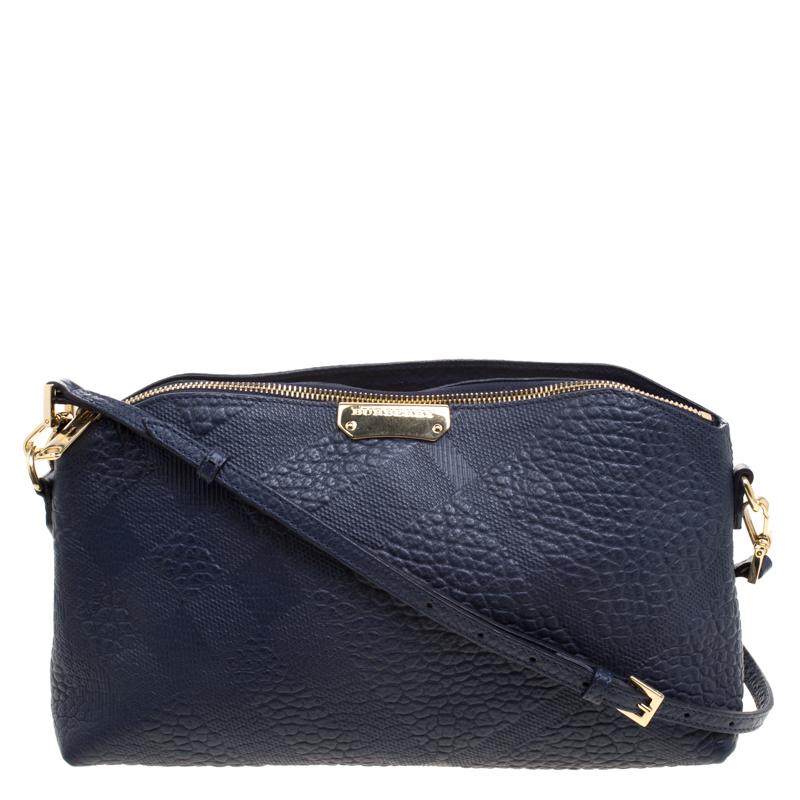 f73b12d6f24a ... Burberry Navy Blue Grain Leather Crossbody Bag. nextprev. prevnext