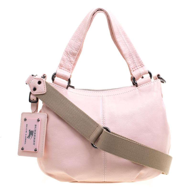 0d52dc44bd73cf ... Burberry Blue Label Blush Pink Leather Top Handle Bag. nextprev.  prevnext