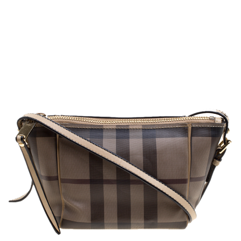 b075311493f8 ... Burberry Beige Smoked Check PVC Crossbody Bag. nextprev. prevnext