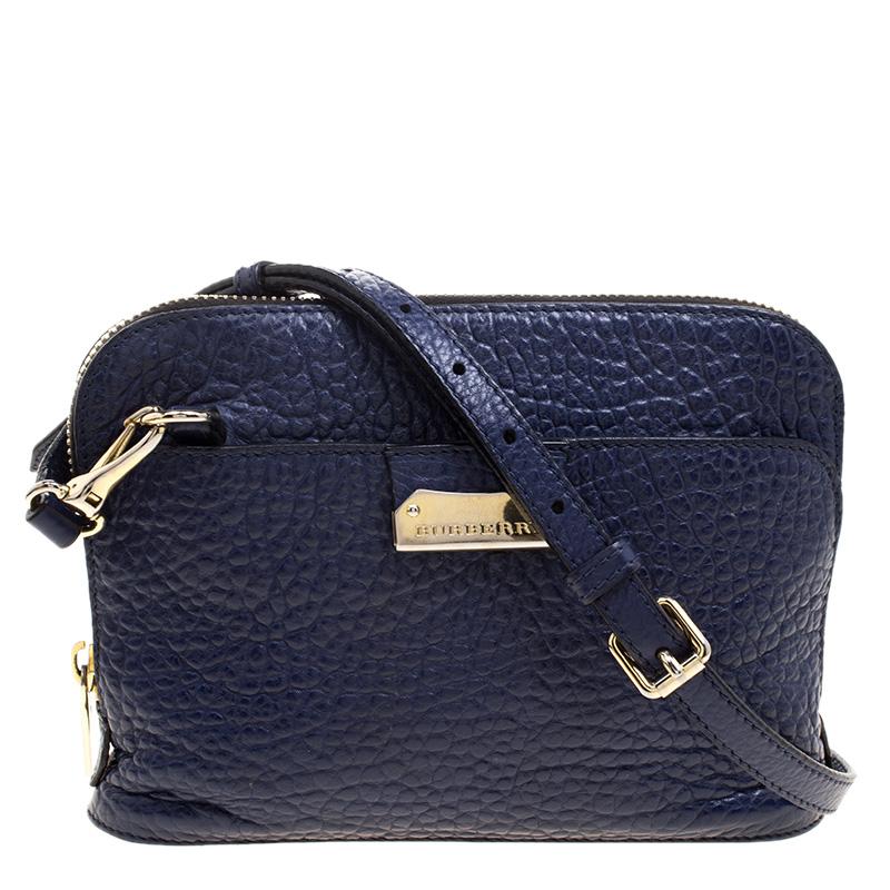 99021f925851 ... Burberry Bright Regency Blue Grain Leather Small Harrogate Crossbody Bag.  nextprev. prevnext