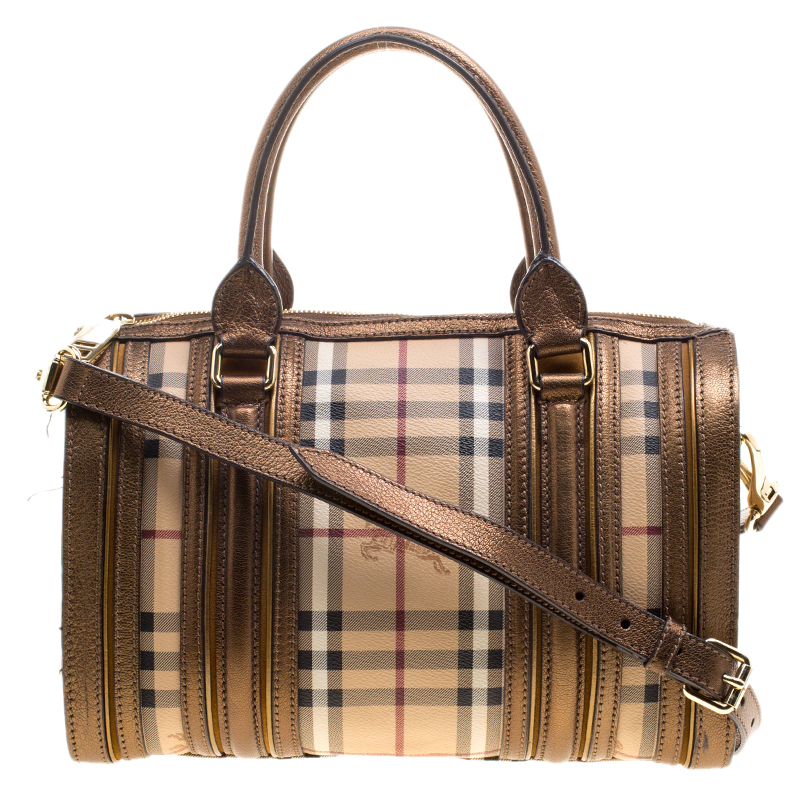 ... Burberry Bronze Haymarket Canvas and Leather Medium Alchester Bowling  Bag. nextprev. prevnext d4aea48694e9d