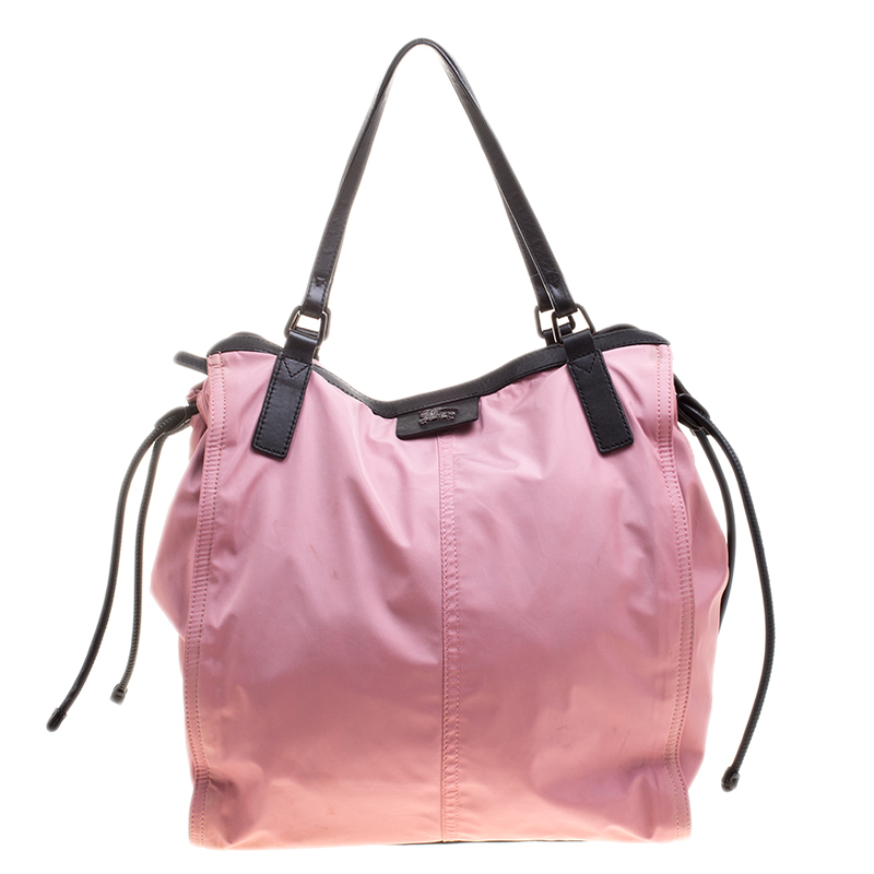 Buy Burberry Pink Nylon Buckleigh Packable Tote 128038 at best price ... e80fc73aa2970