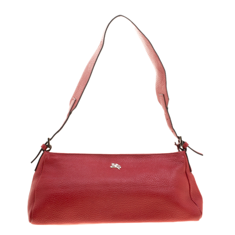 066f1578b1e4 Buy Burberry Red Leather Pochette Shoulder Bag 134568 at best price ...