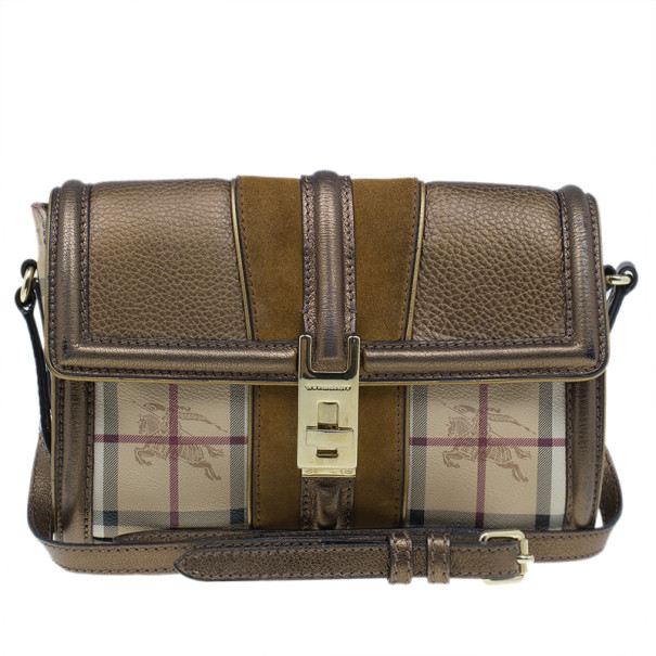 55d45429450f ... Burberry Beige Leather and Canvas Haymarket Crossbody Bag. nextprev.  prevnext