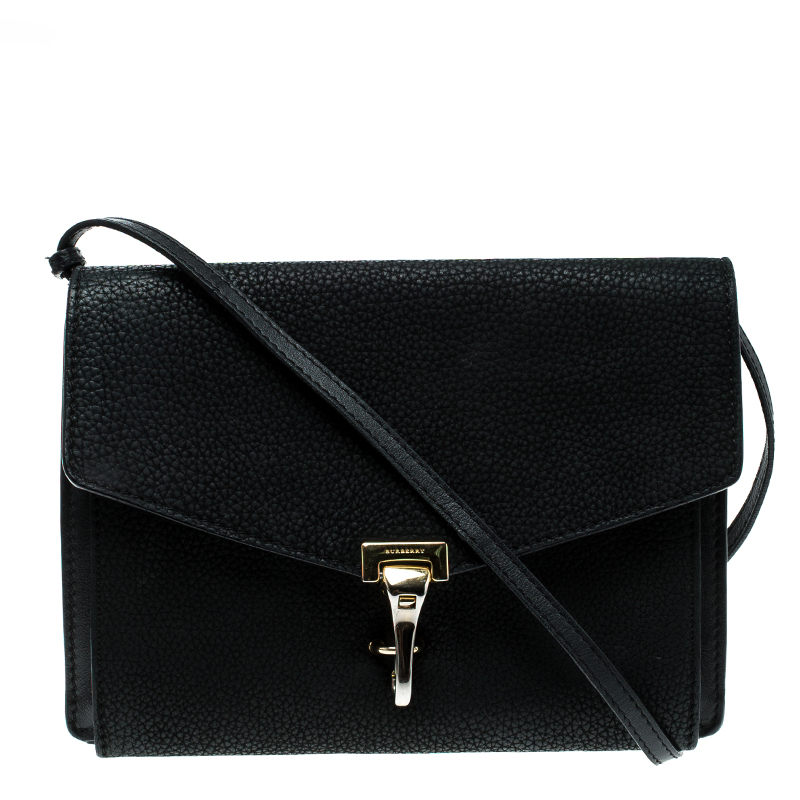 88dd9fcbd160 ... Burberry Black Grainy Nubuck Leather Small Macken Crossbody Bag.  nextprev. prevnext