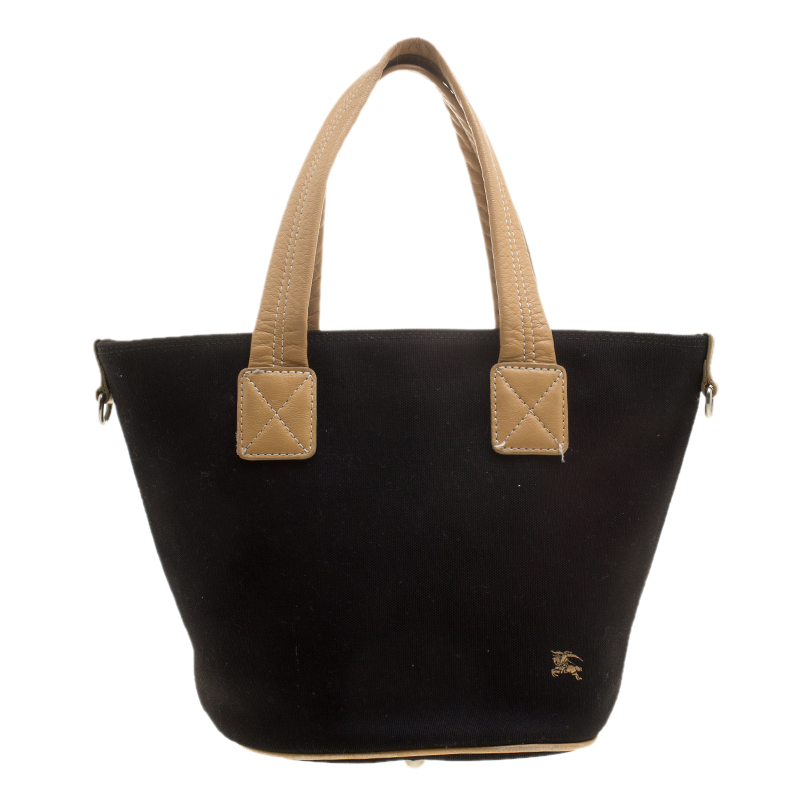 0107620ffdcf Buy Burberry Blue Label Black Canvas Tote 140408 at best price
