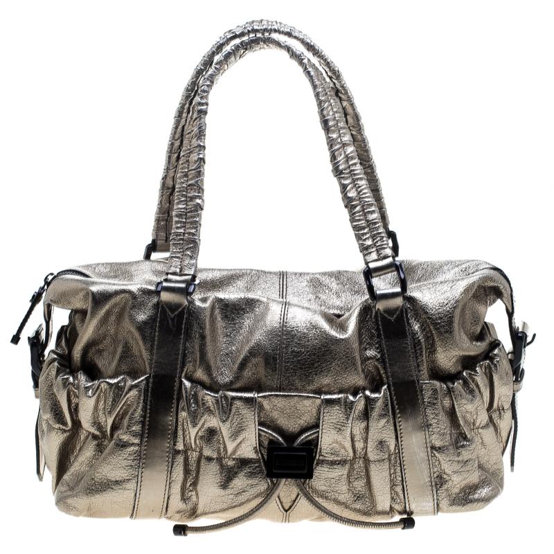 d8ef5be142e1 Buy Burberry Metallic Gold Leather Curzon Shoulder Bag 143557 at ...
