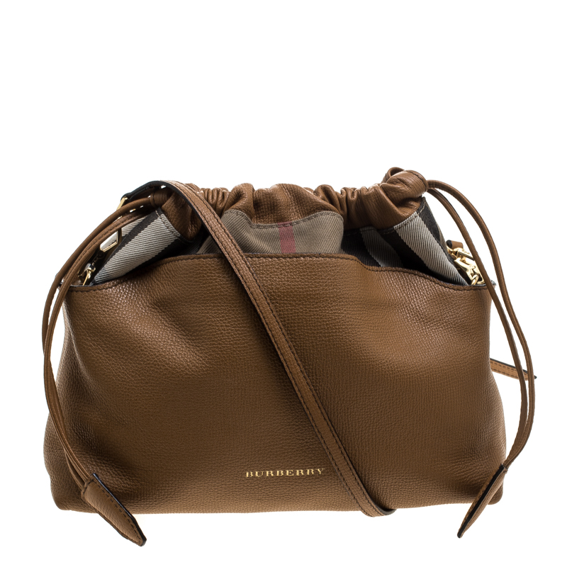0aeb624ad Buy Burberry Camel House Check Canvas and Leather Little Crush ...