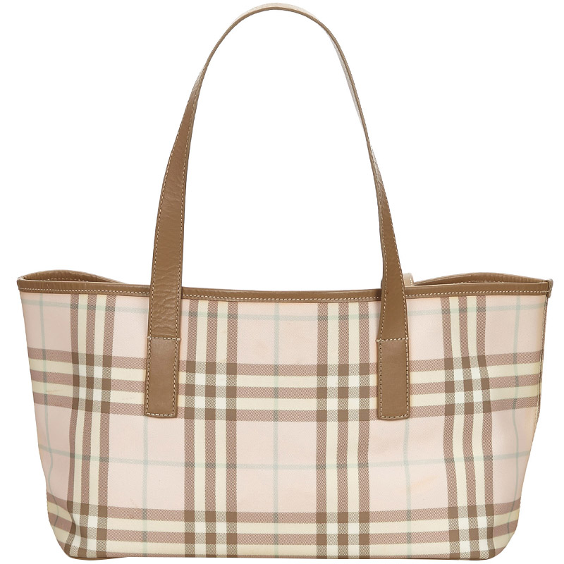 ae5c7d5f7160 Buy Burberry Plaid Jacquard Tote Bag 148388 at best price