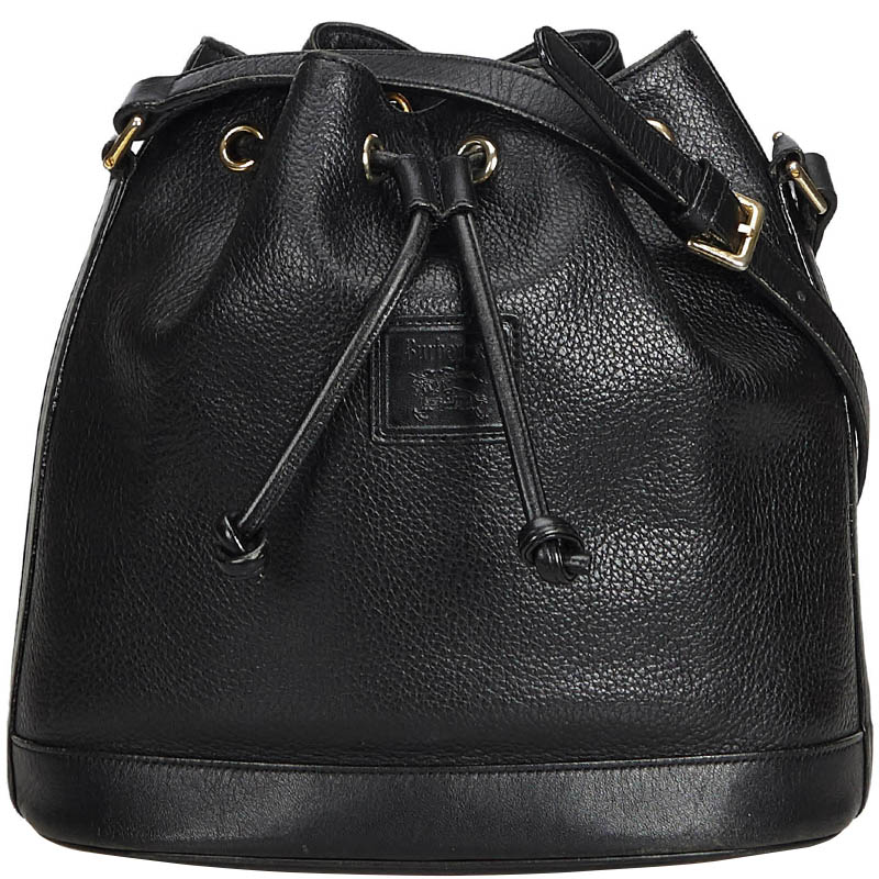 a5b8dbc89 ... Burberry Black Leather Drawstring Bucket Hobo Bag. nextprev. prevnext
