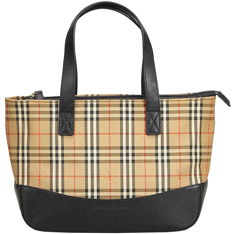 c50061a515cd Buy Burberry Beige Plaid Canvas Tote Bag 168646 at best price