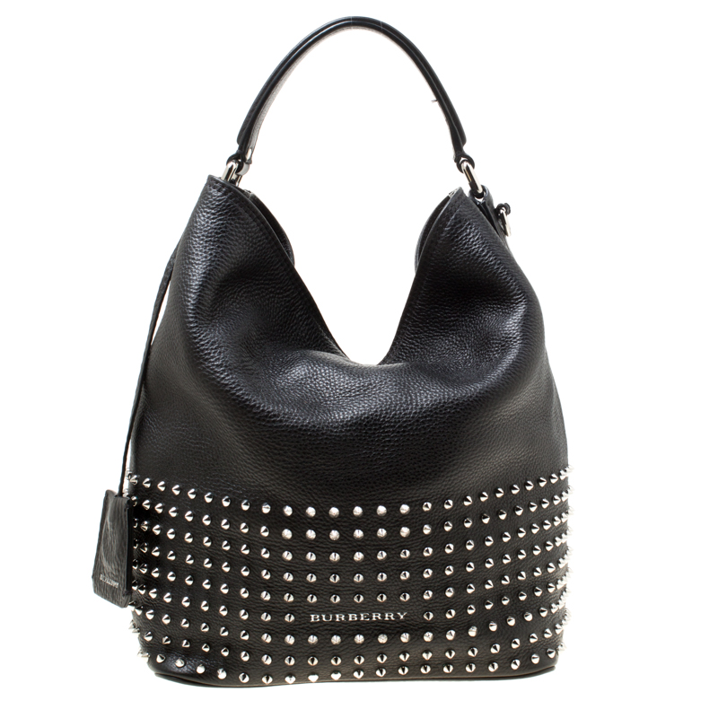 54d8e4b040d ... Burberry Black Leather Studded Susanna Bucket Bag. nextprev. prevnext