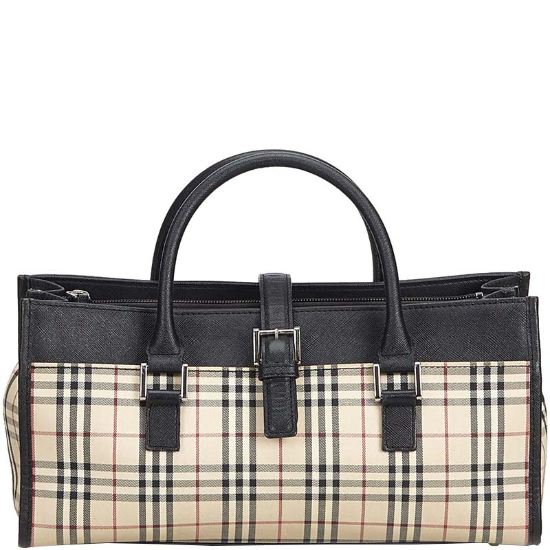 c924c3e1f726 ... Burberry Black and Beige Plaid Canvas Everyday Bags. nextprev. prevnext
