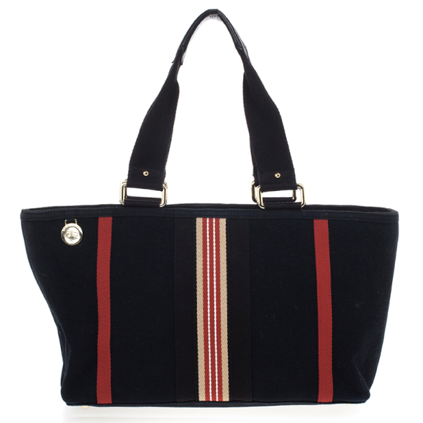 Burberry Black Canvas Tote
