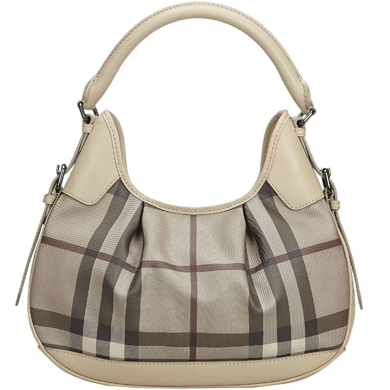 8810dec8fac2 Buy Burberry Brown PVC Plaid Brooklyn Hobo Bag 182047 at best price ...