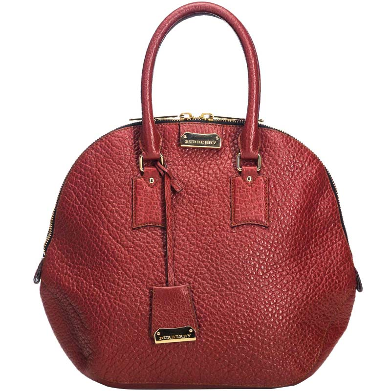 49d02fc79 Buy Burberry Red Grained Leather Orchard Satchel Bag 193859 at best ...