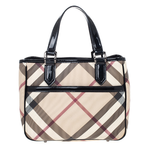 Buy Burberry Nova Check Front Pocket Tote 19804 at best price  f4a9ae438d4ca