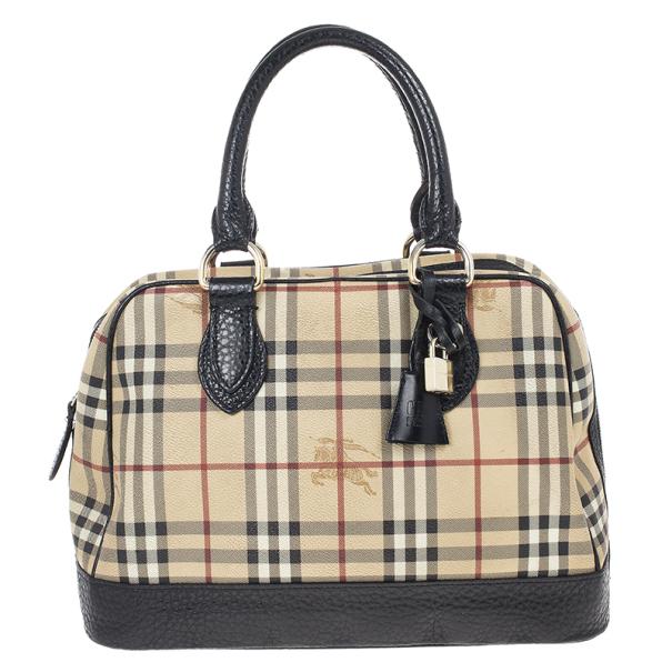 66890a390ce0 ... Burberry Haymarket Check Coated Canvas Medium Bowling Bag. nextprev.  prevnext