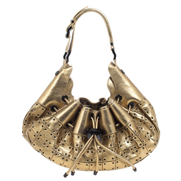 b5a8debf55ac Buy Burberry Prorsum Studded Warrior Gold Bag 20394 at best price