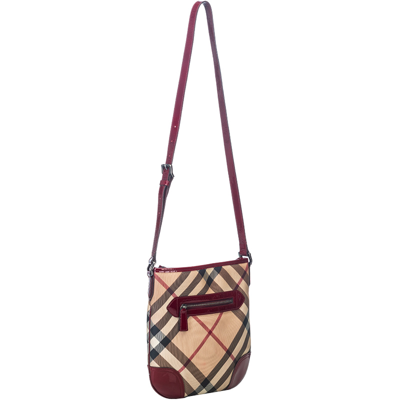 Burberry Brown Coated Canvas Dryden Crossbody Bag, Multicolor