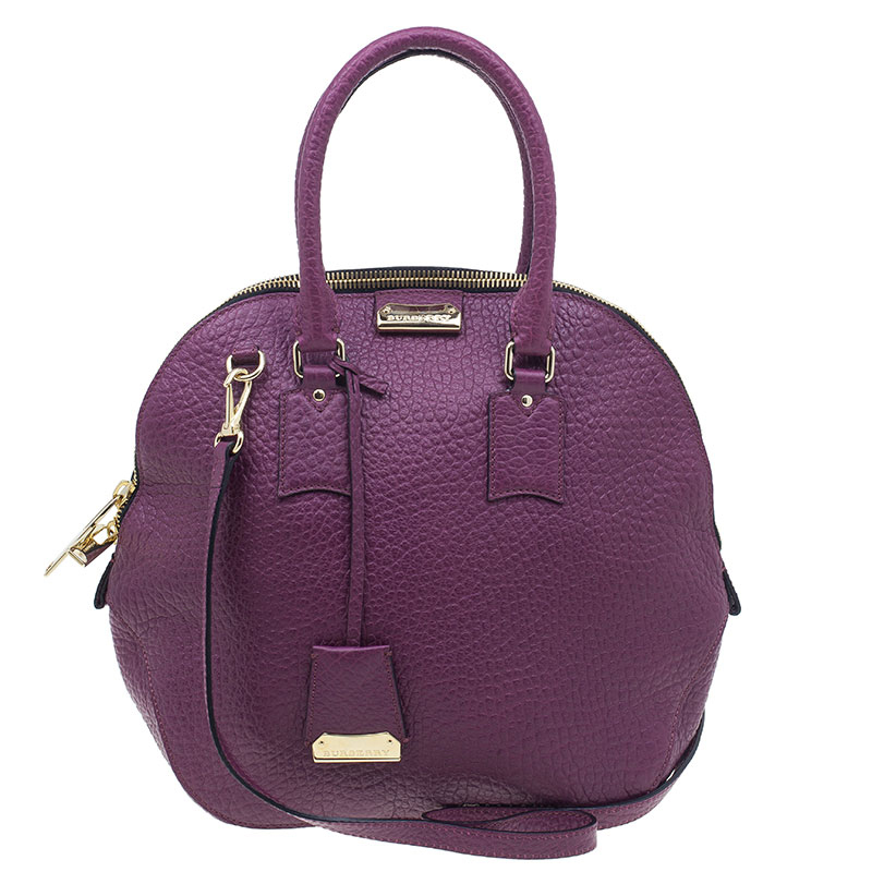 d024ede01cad Buy Burberry Purple Heritage Grain Medium Orchard Bowling Bag 215 at ...