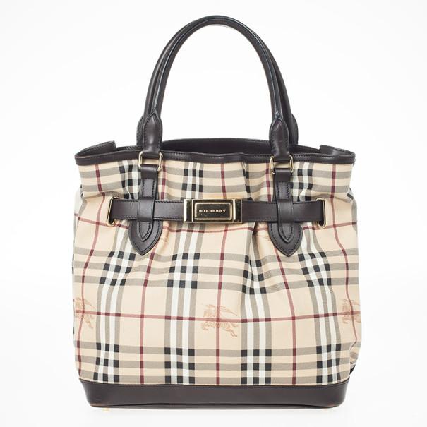 Buy Burberry Medium Haymarket Check Tote Bag 23064 at best price  ac908ea8ca782