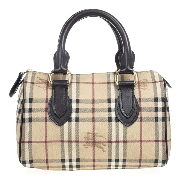 6b2bc929faf3 ... Burberry Haymarket Check Coated Canvas Medium Bowling Bag. nextprev.  prevnext