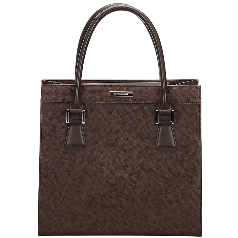 Burberry Brown Leather Tote Bag