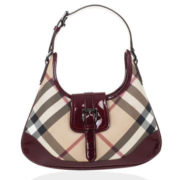 4b0d10dff6c0 Buy Burberry Nova Check Mini  Brooke  Hobo Handbag 26077 at best price