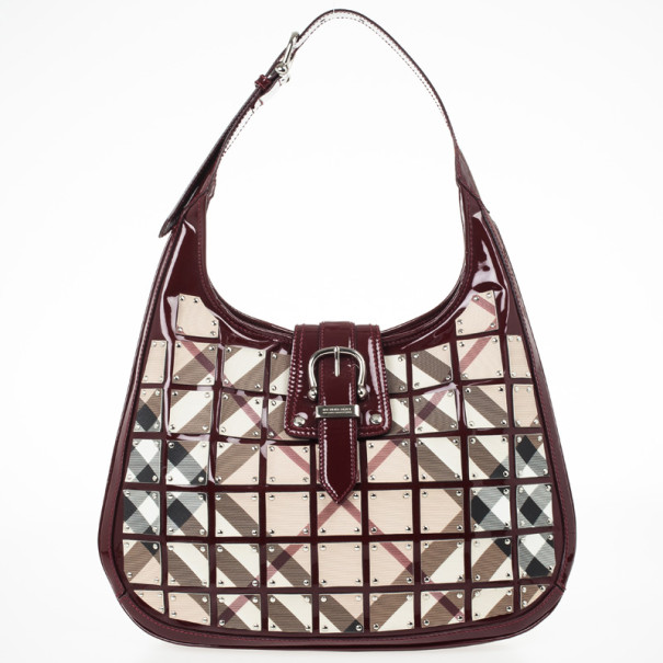 fb470c632c0f Buy Burberry Warrior Nova Check  Brooke  Hobo 29763 at best price