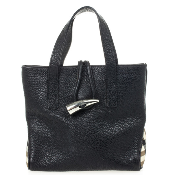 ... Burberry Black Leather Horn Toggle Small Tote Bag. nextprev. prevnext 170600aece