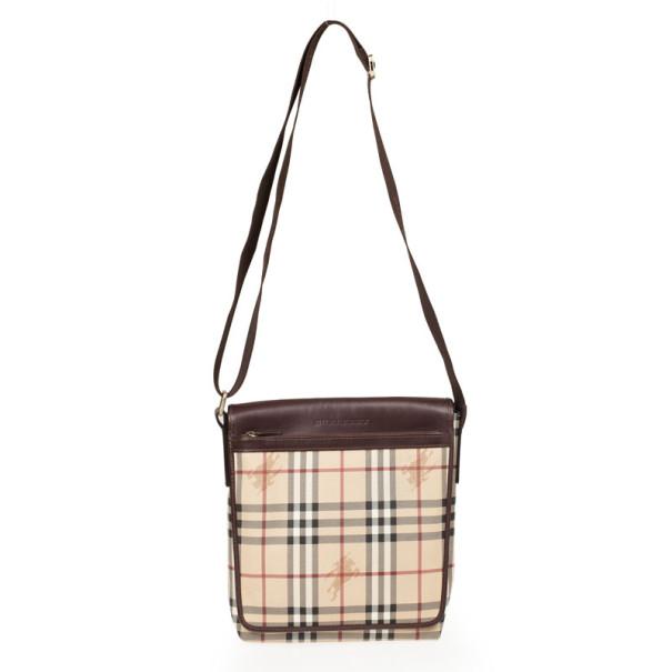 1292fac10217 Buy Burberry Haymarket Check Flap Crossbody Bag 32747 at best price ...