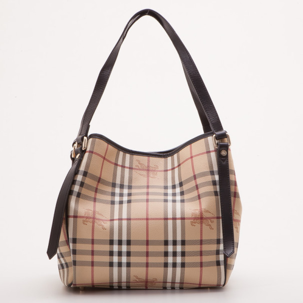 325200c02061 ... Burberry Chocolate Haymarket Check PVC Tote Bag. nextprev. prevnext