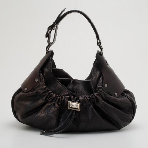 0b4a4d4e4512 ... Burberry Metallic Leather Drawstring Warrior Hobo bag. nextprev.  prevnext