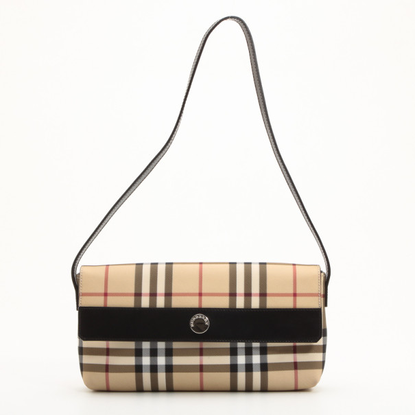 de69ff2d981c ... Burberry Nova Check Coated Canvas Shoulder Flap Bag. nextprev. prevnext