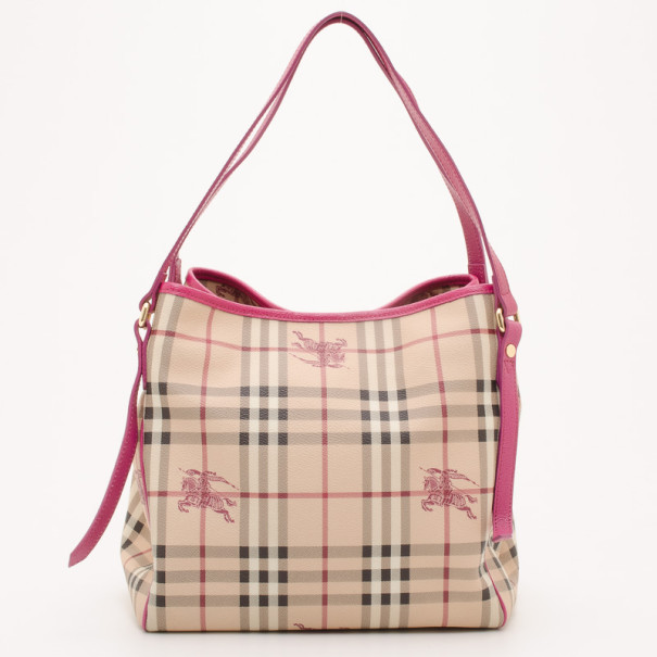 8adee1c7092e Buy Burberry Haymarket Check Pink Trim Medium Shoulder Bag 36964 at best  price