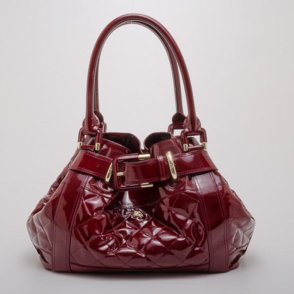 163249ea0a6e ... Burberry Prorsum Beaton Burgundy Patent Leather Bag. nextprev. prevnext
