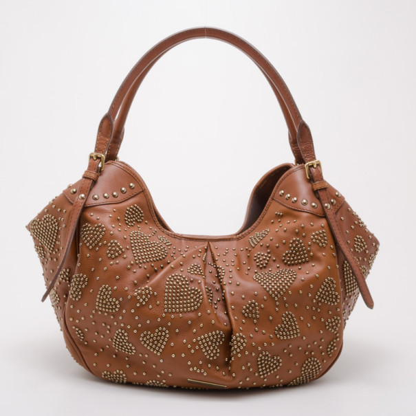 Buy Burberry Tan Leather Studded Heart Bag 37716 at best price  ec82e28502268