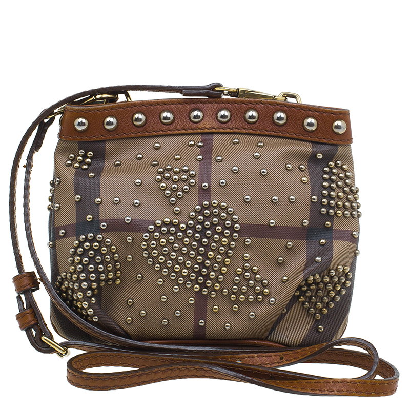 ... Burberry Brown Coated Canvas Studded Heart Crossbody Bag. nextprev.  prevnext 2747557163c3c