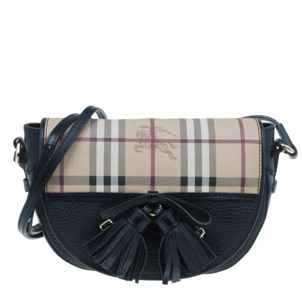 9c2ffb3eba53 ... Burberry Black Haymarket Leather  Maydown  Crossbody Bag. nextprev.  prevnext